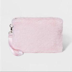 Handbags - Wild Fable Pink Faux Fur Clutch